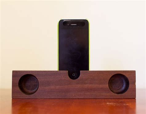 wooden iphone speaker wooden iphone and speakers are eco friendly