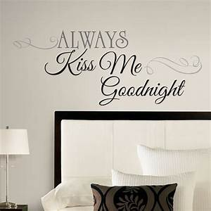 new large always kiss me goodnight wall decals bedroom With awesome design wall decals online
