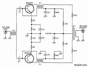 rf input stage signal processing circuit diagram With push pull amplifier