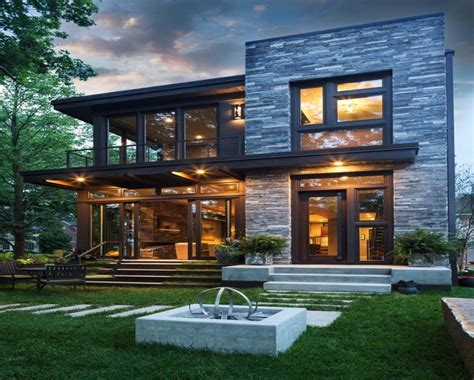 Design Of Home, House Exterior Design On House Stone