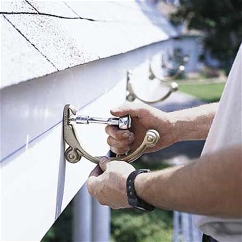 attach fascia brackets how to install rain gutters