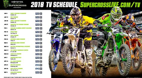 what channel is the motocross race 2018 monster energy supercross series television