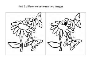 spot  find  difference worksheets crafts