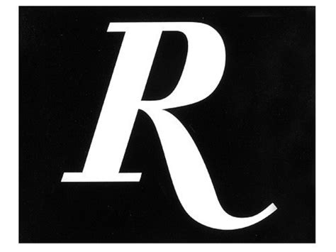 Remington R Logo Decal White