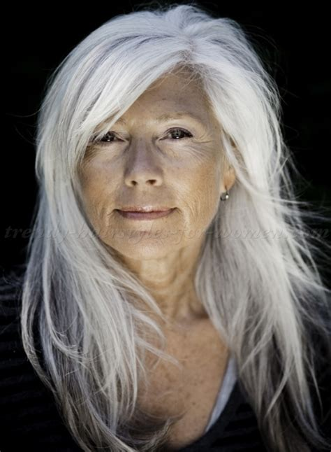 long hairstyles over 50   long hairstyle for silver hair