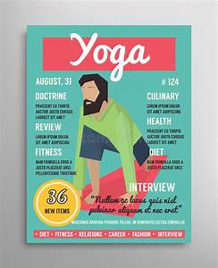 Magazine De Sport : magazine cover template yoga blogging layer health sport illustration stock illustration ~ Medecine-chirurgie-esthetiques.com Avis de Voitures