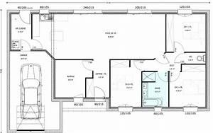 plan maison plain pied 3 chambres 1 bureau plainpied 92 With plan de maison 3 chambres plain pied