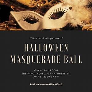 Customize 107  Masquerade Invitation Templates Online