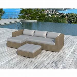 Salon de jardin 4 places bilbao en resine tressee ronde for Tapis de couloir avec canapé d exterieur résine tressée