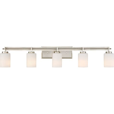 Bathroom 5 Light Fixtures by Quoizel Ty8605bn Modern Brushed Nickel 5 Light
