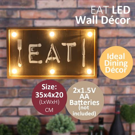 Check out our eat wall decor selection for the very best in unique or custom, handmade pieces from our home & living there are 21363 eat wall decor for sale on etsy, and they cost $25.42 on average. EAT Plaque LED Light Wall Decor - Big Bang Sale
