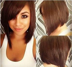 Coupe Cheveux Carré Mi Long : coiffure carre mi long plongeant ~ Melissatoandfro.com Idées de Décoration