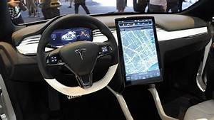 Tesla Model X Electric Crossover New Interior: Detroit Auto Show Live Pictures