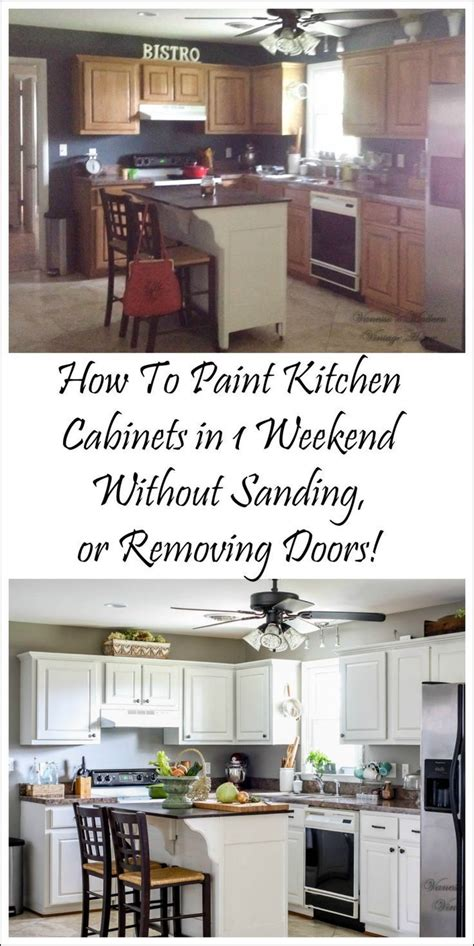 how to paint kitchen cabinets without sanding how i painted my kitchen cabinets without removing the 9510