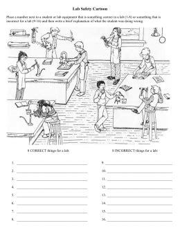 lab safety cartoon worksheet   worksheets image
