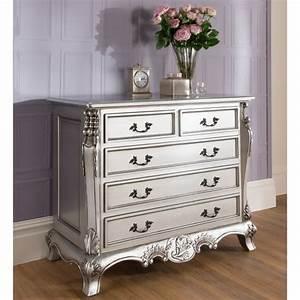 La rochelle antique french silver chest stunning range for Bedroom furniture sets malta