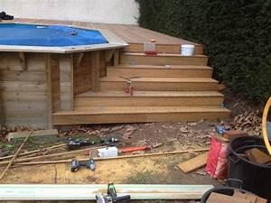 escalier en bois exotique pour vos exterieurs parquet et With plan pour terrasse exterieur