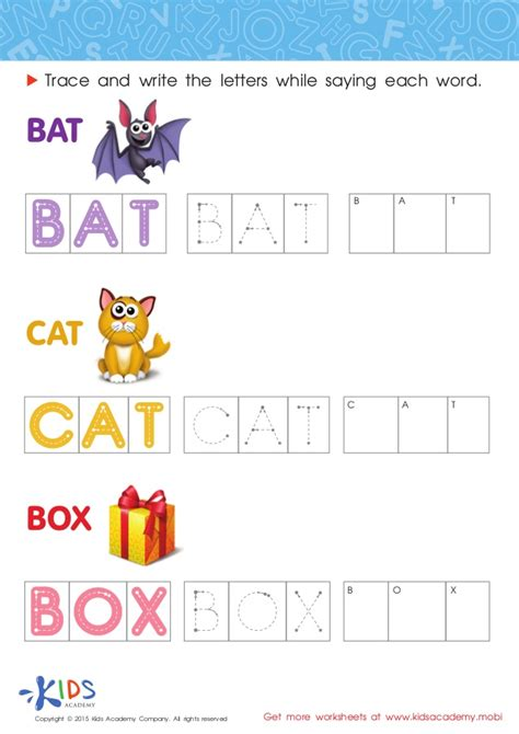 Spelling Worksheets For Preschool And Kindergarten