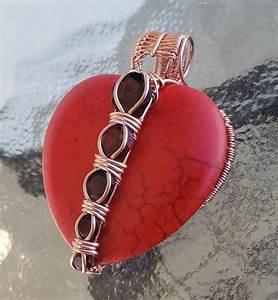 Wire Wrap Heart Pendant Tutorial Diminishing Weave Setting