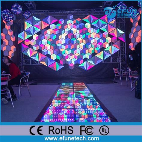Rgb led panel with a random twinkling pattern connected to the logibone fpga board sparkfun or adafruit 32x32 rgb led panel this panel contains 1024 rgb leds arranged in a. Decorative Nightclub And Bar Rgb Color Changing Diy 3d Wall Led Panel Triangle - Buy Led Panel ...