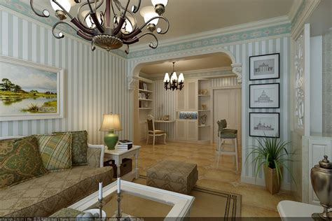Dining And Living Room Decorated With Flow 3d Model
