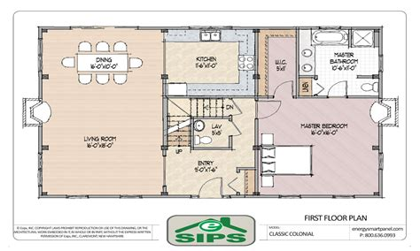 center colonial open floor plans open floor plan