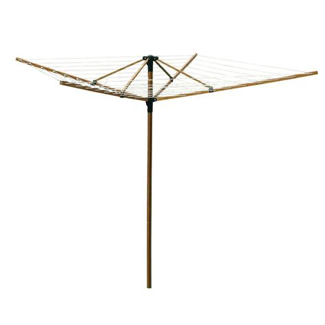 greenway large outdoor bamboo rotary clothesline gclfab