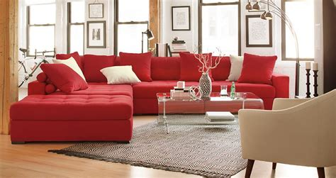 American Signature Red Living Room Furniture
