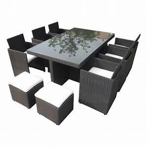 Salon De Jardin Encastrable Rsine Tresse Noir 10