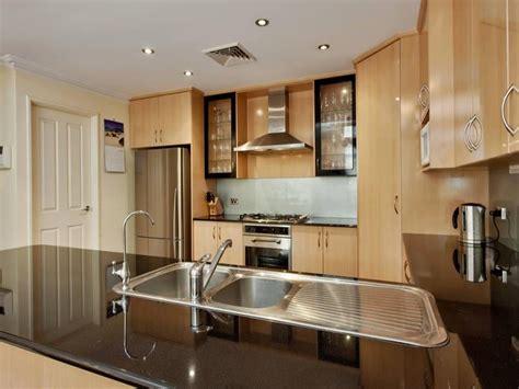 kitchen layouts and design classic galley kitchen design using floorboards kitchen 5314