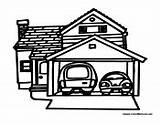 Coloring Garage Colouring Cars Buildings Sheets Teaching Building Houses Colormegood sketch template
