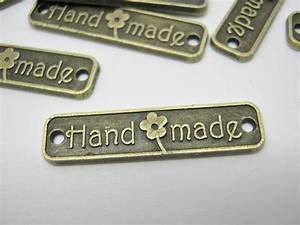 metal labels connectors handmade 25mm 1 With craft labels and tags