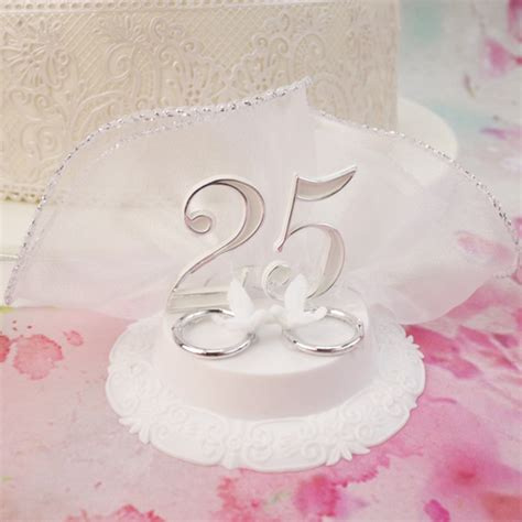 wedding anniversary cake topper   doves