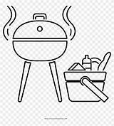 Barbecue Coloring Clipart Cartoon Pikpng Complaint Copyright sketch template
