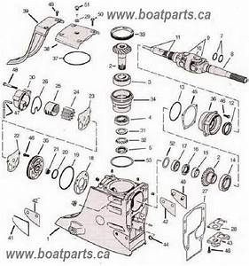 Omc Cobra Upper Gearcase Parts Drawing