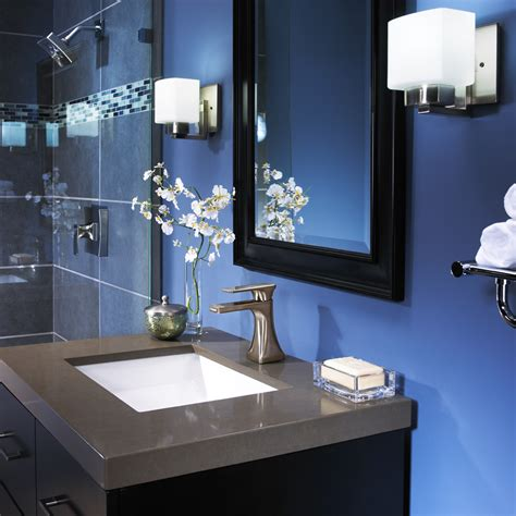bright beautiful blue bathrooms furniture home