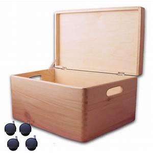 Aufbewahrungsbox Mit Deckel Holz : aufbewahrungsbox holzkiste mit deckel und griffl chern kiefer gr 5 mit rollen ~ Bigdaddyawards.com Haus und Dekorationen