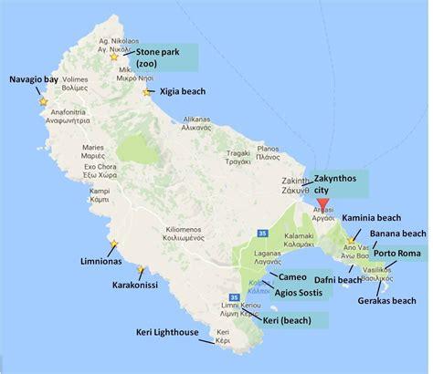 zakynthos map zakynthos zakynthos greece greece