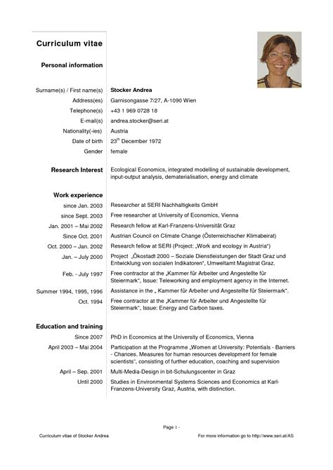 16319 cv resume template curriculum vitae sles pdf template resume builder