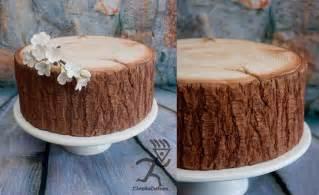 tree stump cake stand kiwi cakes woodgrain tree trunk tutorials from ciccio cakes