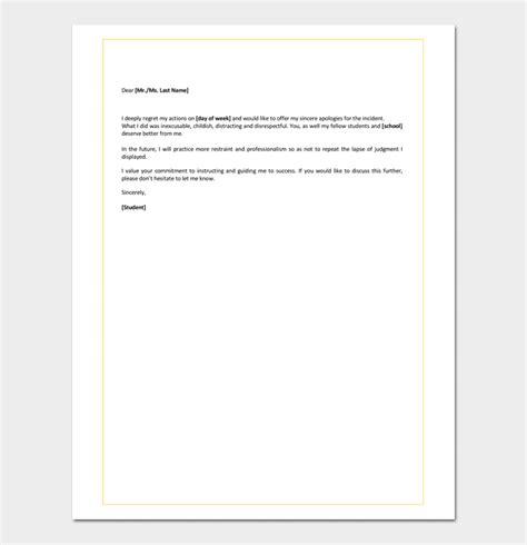 apology letter  teacher  mistake jidiletterco