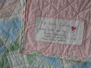 great info about labels for quilts quilt labels With handmade quilt labels