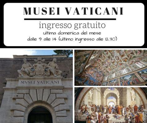 Musei Vaticani Ingresso Gratuito Ingresso Gratuito Ai Musei Vaticani Roma Marittima