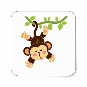 Cute Cartoon Monkey Stickers | Zazzle
