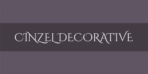 Cinzel Decorative Font Squirrel by Cinzel Decorative Font Free By Natanael Gama 187 Font Squirrel