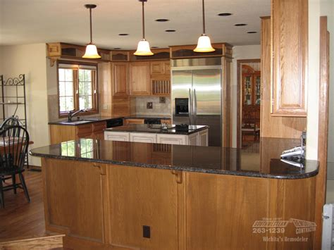 kitchen contractors island southwestern remodeling kitchen remodeling wichita 6590