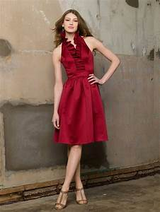 pretty cranberry red bridesmaid dress bridesmaids With cranberry dresses for wedding