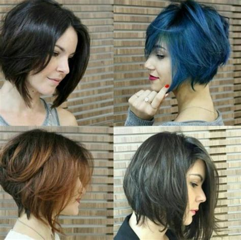 stylish short hairstyles  girls  women curly wavy straight hair popular haircuts