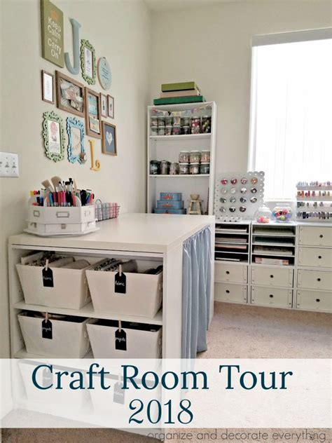 Craft Room Tour 2018  Organize And Decorate Everything
