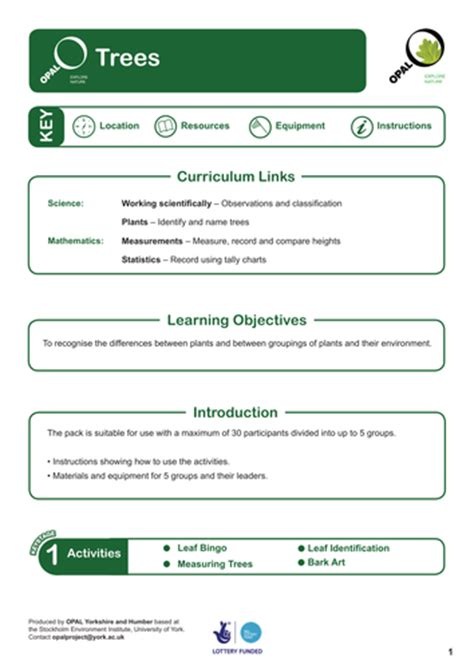 opal education trees ks1 by uk teaching resources tes